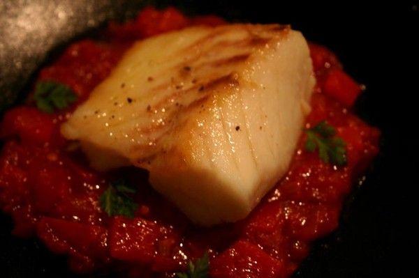 Cabillaud au gros sel - Tomate - Poivron